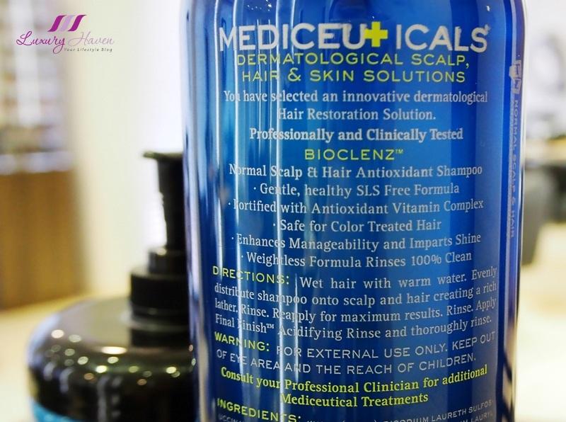mediceuicals bioclenz scalp hair antioxidant shampoo review