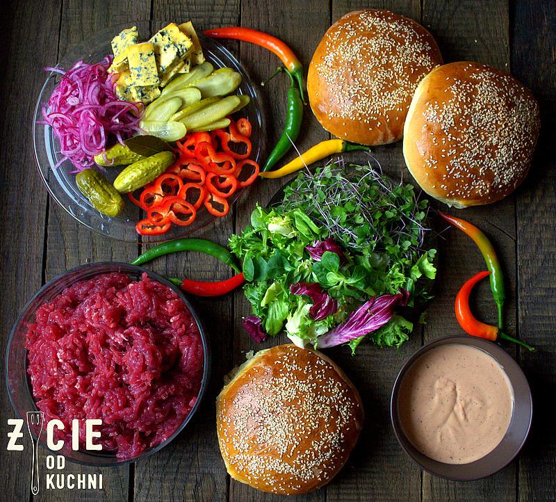 burger, mieso do burgerow,  bułki do burgerow, domowe burgery, zycie od kuchni
