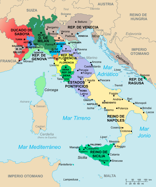 El Renacimiento Italiano: Mapa Italia Renacimiento