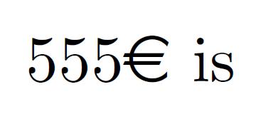 latex kurs latex euro zeichen leerzeichen latex euro symbol. Black Bedroom Furniture Sets. Home Design Ideas