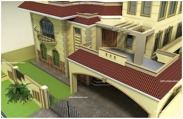 3D Front Elevation.com: Pakistan 1 Kanal, 10 Marla Plan