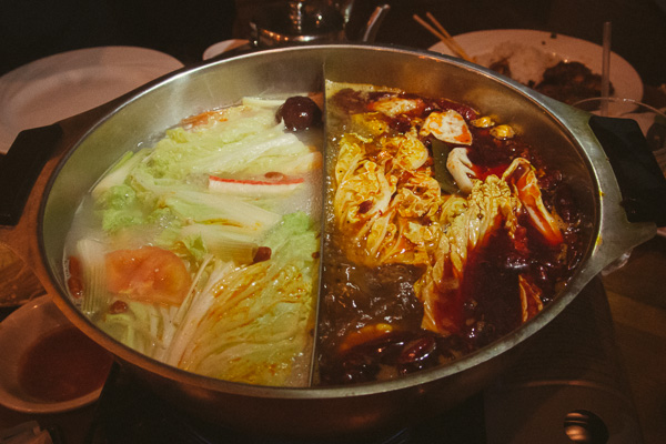 Hot Pot at Lucky Bamboo in Nashville Tennessee