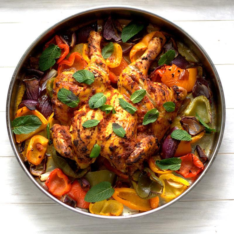 bushcooks kitchen: Harissa-Hähnchen aus dem Ofen aus Jamies ...