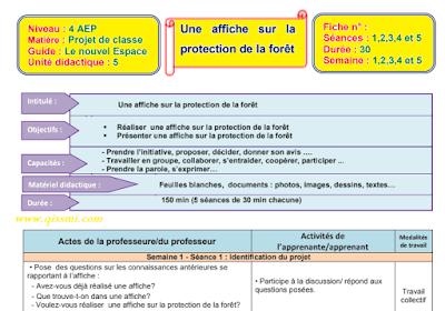 Fiches pédagogiques le Nouvel espace de Français 4AE- UD5