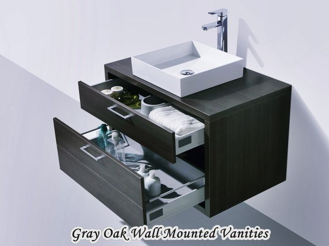 Luxury White Wall Mounted Vanities For Small Bathrooms