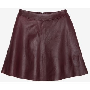 VEDA Chateau leather skirt