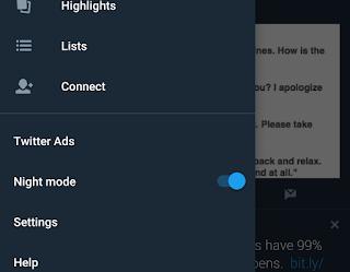 Mengaktifkan Fitur Dark Mode pada Twitter