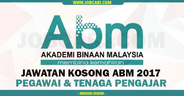 Jawatan Kosong Terkini dI ABM