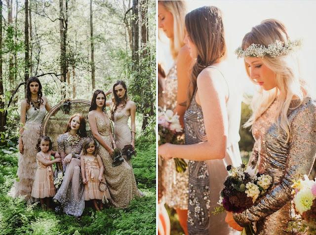 бохо свадьба фото платья подружек невесты