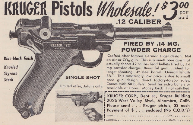 Kruger Toy Pistol Newspaper Ad