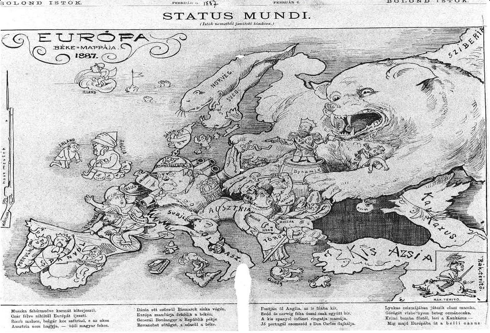 Status mundi / Európa béke-mappája (1887) (Hungarian)