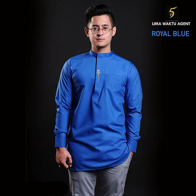 kurta sunan 5 waktu royal blue