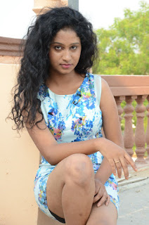 Actress Priyankha Stills in Floral Short Dress at Golmal Gullu Movie Pressmeet 0279.JPG