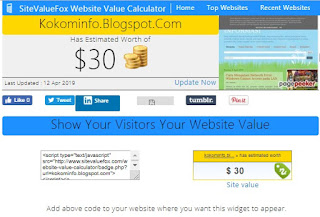 Cek Harga Website dan Blogvaluefox.com