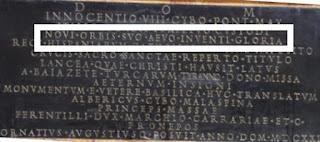 Epitafio tumba Inocencio VIII