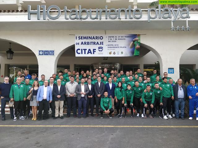La Palma acogió ayer el I Seminario de Árbitros del Comité Interinsular Tinerfeño de Árbitros de Fútbol (CITAF)