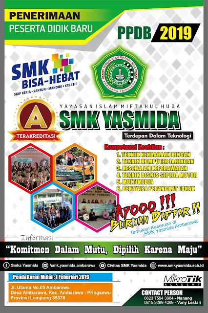 Desain Banner Sosialisasi PPDB SMK Yasmida Ambarawa