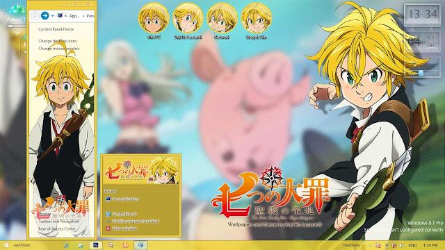 Nanatsu no Taizai Theme Win 8/8.1 by Enji Riz Lazuardi