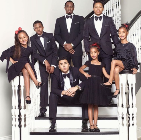 P. Diddy and his beautiful children's Christmas greeting