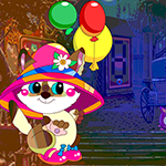 Games4King Escape Cat With Balloon
