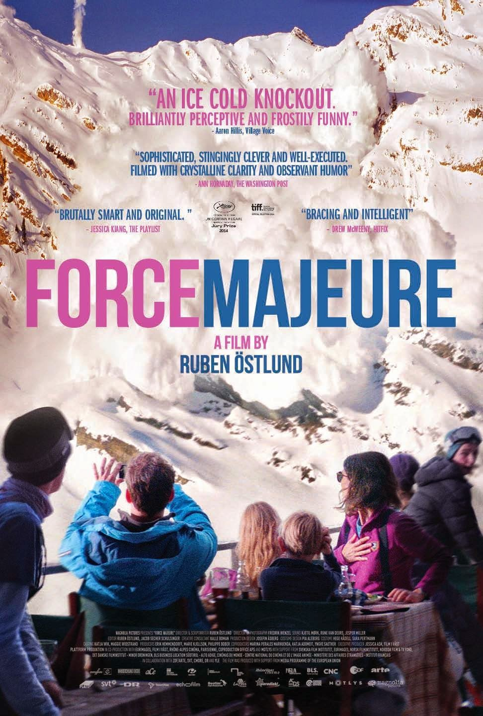 Force Majeure, Directed by Ruben Östlund, Movie Poster