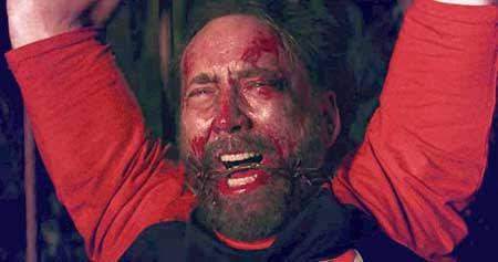 Nicolas Cage en una secuencia de Mandy