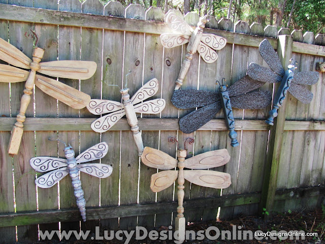 repurposed recycled table leg dragonflies by lucy designs