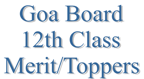 Goa Board 12th Toppers