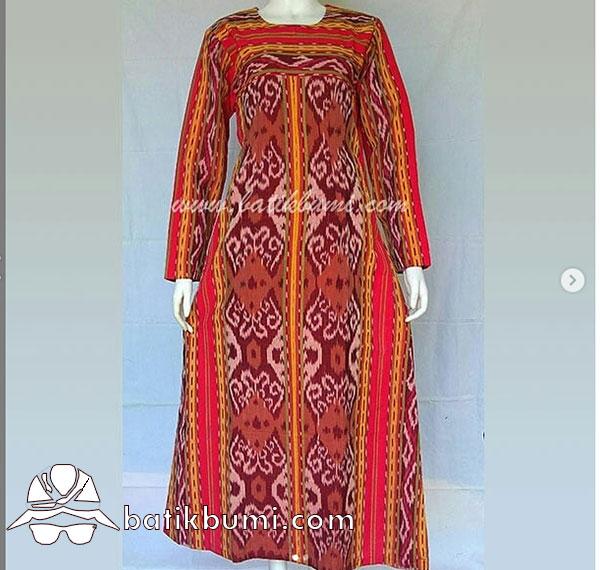 Batik Gamis Tenun ATBM Pedan Merah