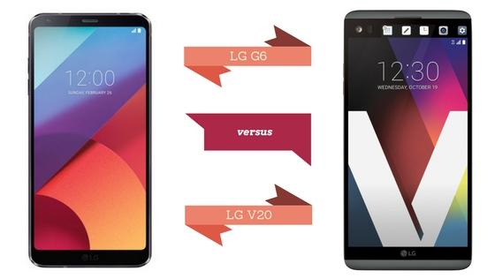 LG G6 vs. LG V20