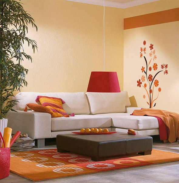 House Of Furniture: Latest Living Room Wall Decorating Ideas