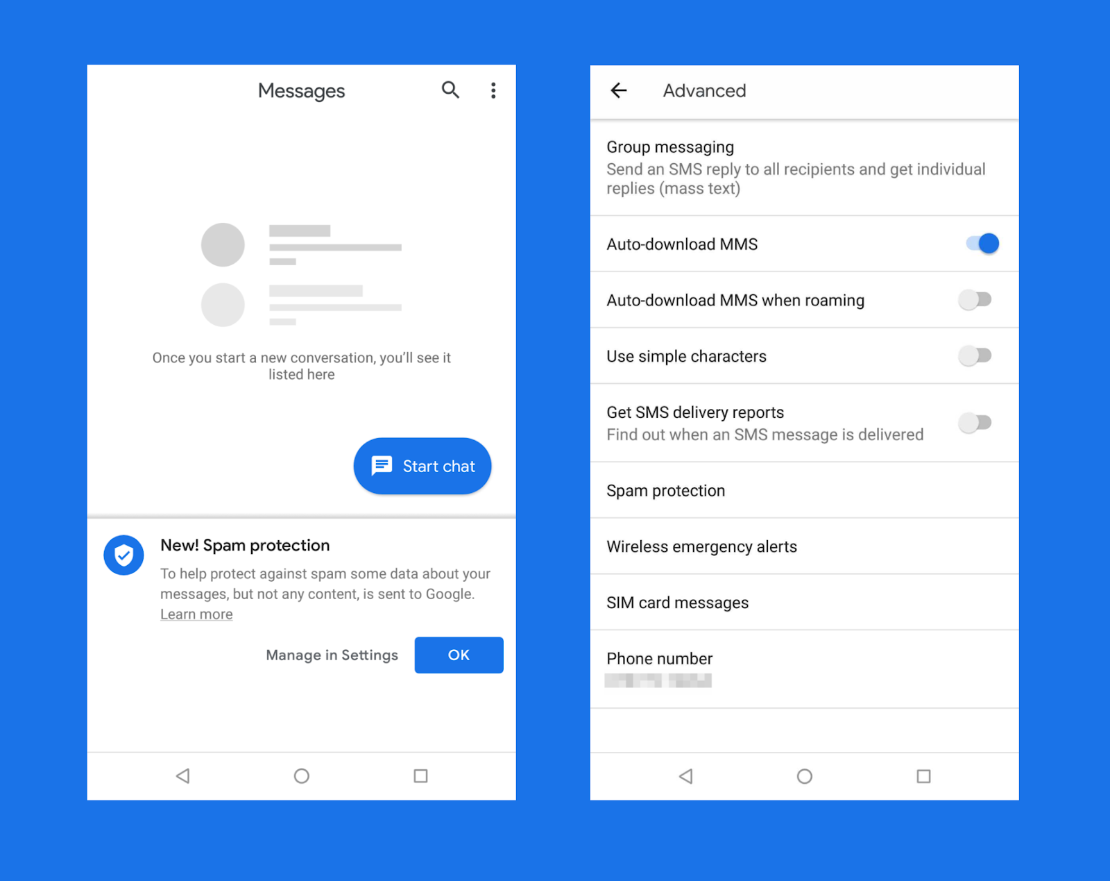 Automated Spam Filter Rolls Out on Android Messages