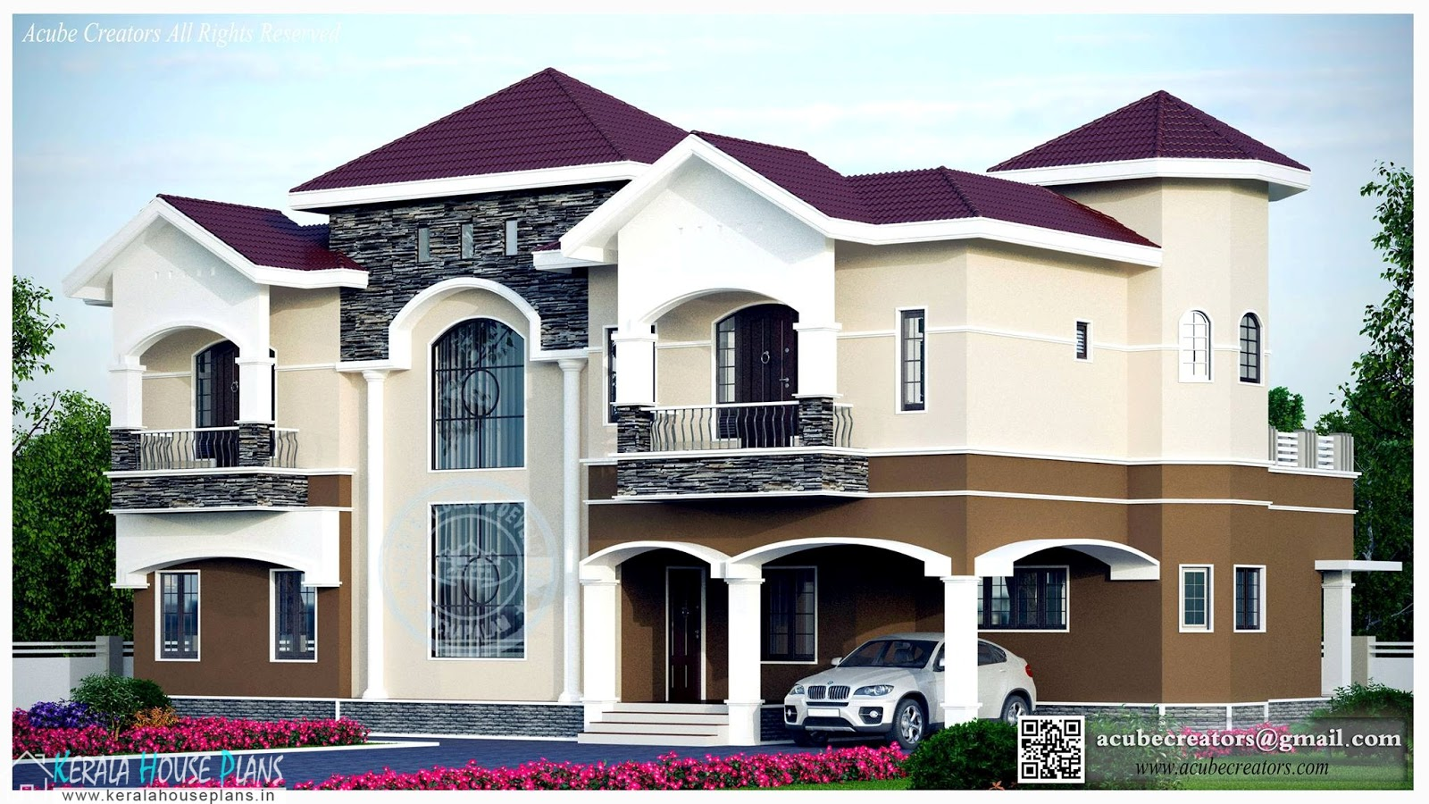 Modern Style Kerala Home Design 3518 sq.ft.