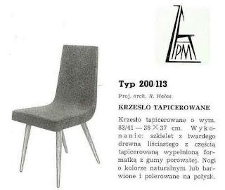 krzesło patyczak proj. R. Hałasa