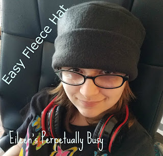 Blog With Friends, a monthly multi-blogger project based group post. This month's theme is Frosty Fun | How to make an Easy Fleece Hat by Eileen of Eileen's Perpetually Busy | Presented on www.BakingInATornado.com | #DIY