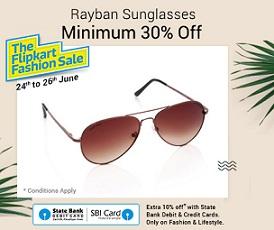 Sunglasses – Min 50% Off on Fastrack Sunglasses | Min 30% Off on Rayban Sunglasses@ Flipkart