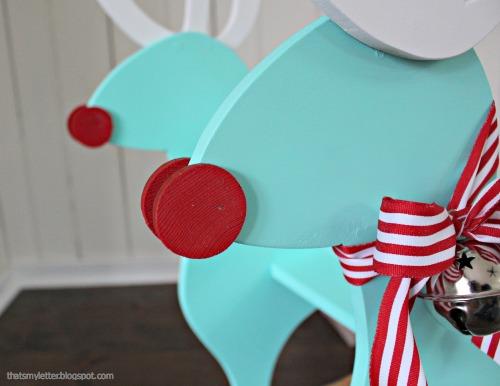 diy reindeer rocker nose