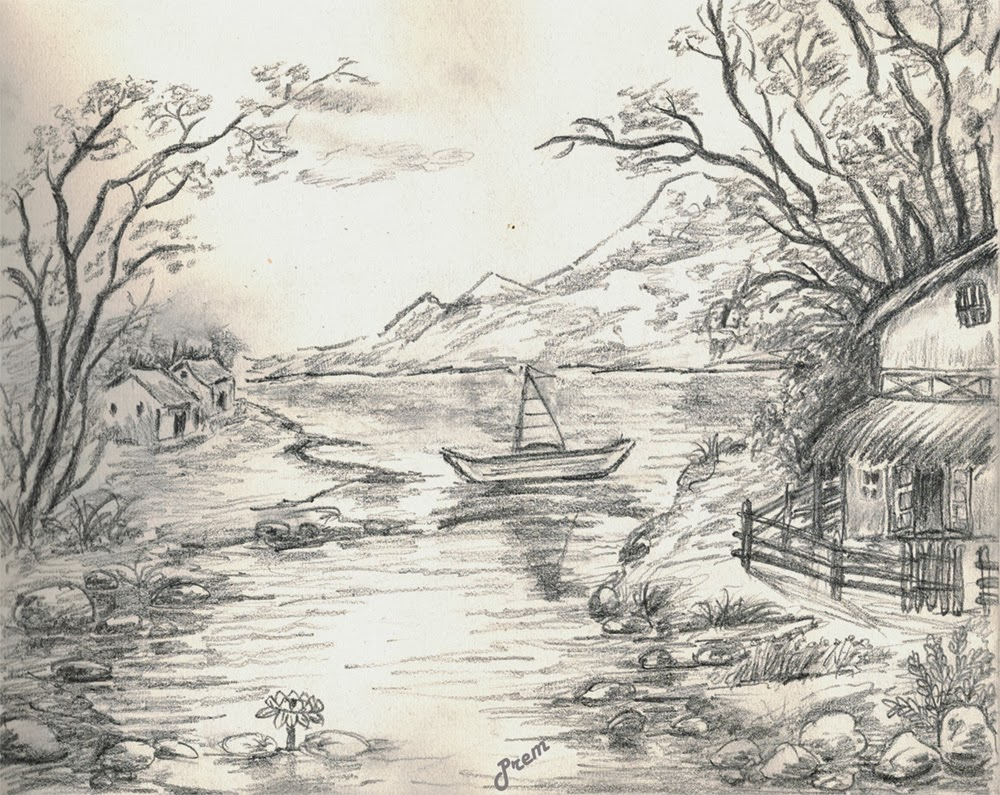 Sketch of Landscape Scene