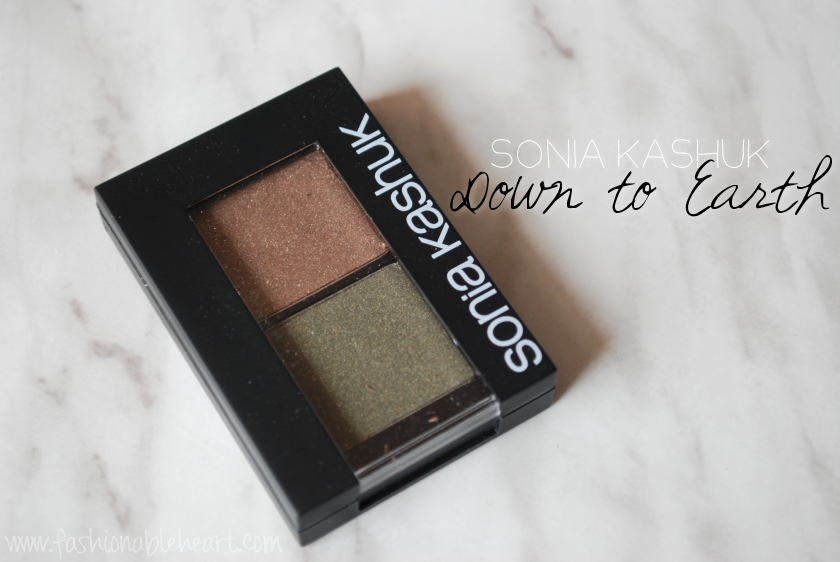 sonia kashuk target eyeshadow duo neutral down to earth green brown