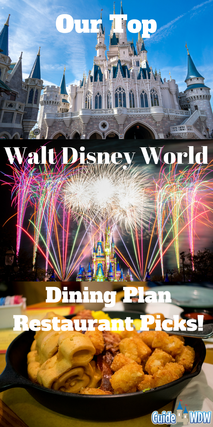 Table Service Disney Dining Plan Offerings