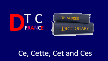 Demonstrative Adjectives (Ce, cet, cette, ces) in French
