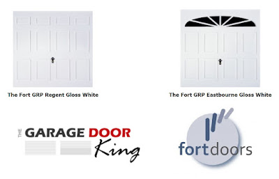 GRP White Garage Doors made by Fort and supplied by The Garage Door King