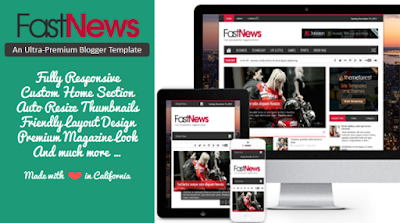 Fast News - Magazine Blogger Template