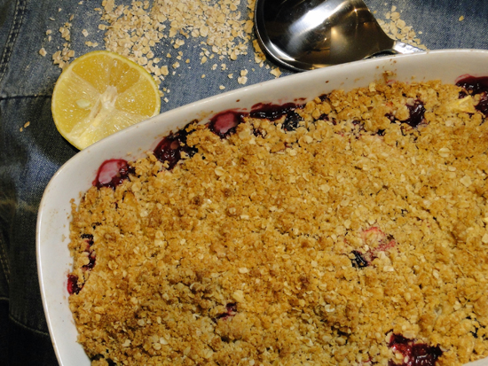 Cranberry Crumble With Fall Fruit Recipe