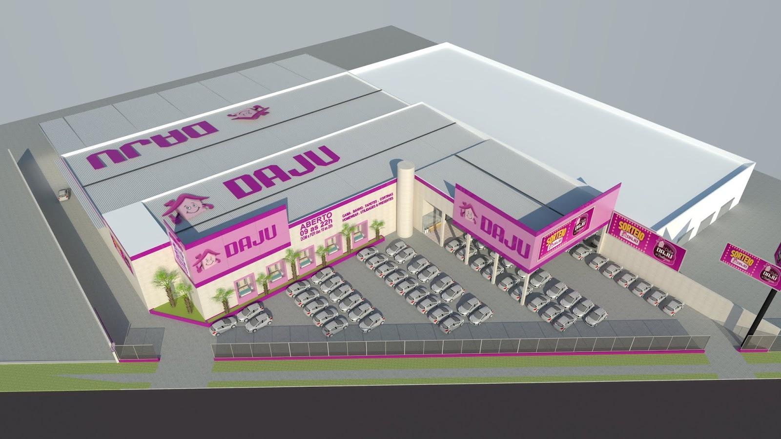 546798fd91d99 A nova Megaloja Daju São José dos Pinhais contará com mais de cem mil  produtos em uma área total de 4.000 m². Para maior comodidade dos clientes,  terão 130 ...