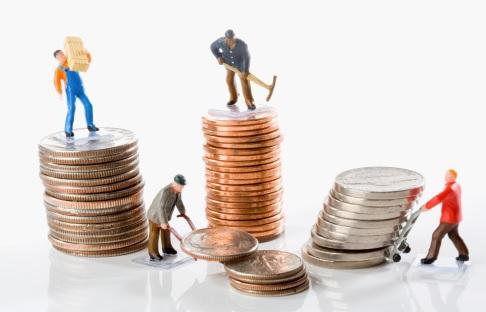 Salarios, dinero