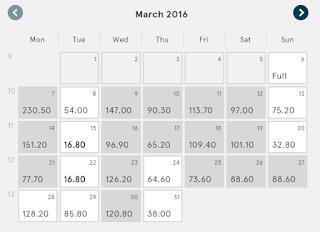 Kalendár odletov a výrazne rozdiely cien v rôzne dni (Norwegian Air Shuttle) 22b4923b391