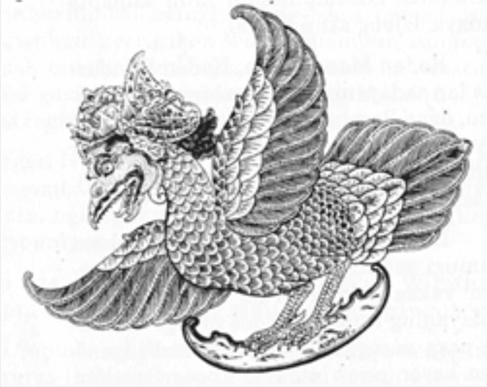 Di dalam babad sejarah atau cerita cerita kuno negara negara mandiri di Indonesia sepertinya belum pernah ada yang menyebut lambang burung Garuda