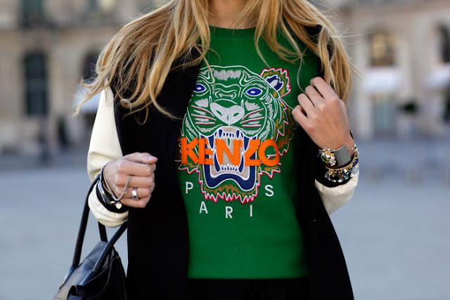 sudadera tigre verde kenzo