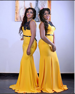 Twin Actresses, Aneke Twins Dazzle In Matching Outfits For An Award In USA